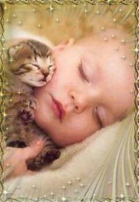 dítě a kotě_57680