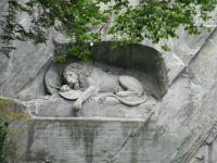 LION MONUMENT  (1820 -1821) LUCERNE SWITZERLAND