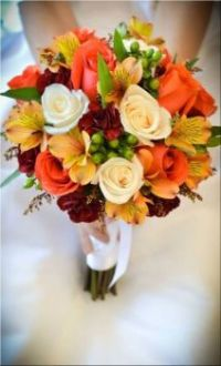 Happiness is.... Autumn Bridal Bouquet.