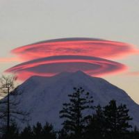 Lenticular Clouds over Mt. Rainier, Washington State