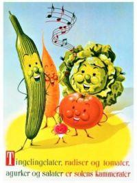 Themes Vintage illustrations/pictures - Vegetables Danish Poster