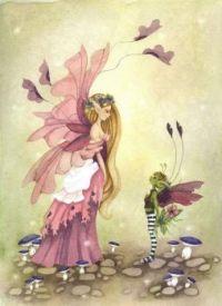 fantasy watercolor painting  The Crush