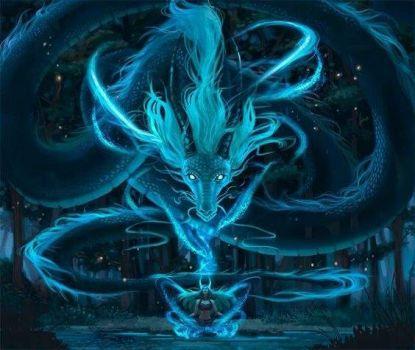 Midnight Blue Dragon