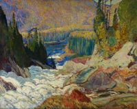 Falls, Montreal River, by J. E. H. MacDonald