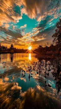 Amazing Sky and Reflection