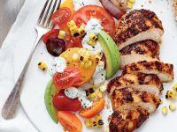 Grilled Chicken w/Tomato-Avocado Salad