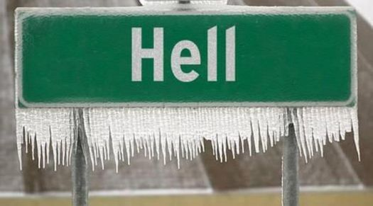 It Happened! It's a cold day in Hell.