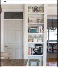 A few kitchen shelves