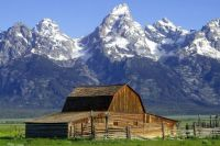A barn in the Grand Tetons