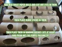 toilet paper eyes LOL