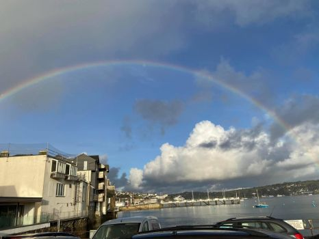 Rainbow Over Falmouth, Cornwall