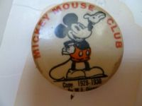 1928-1930 Disney Mickey Mouse Club pinback