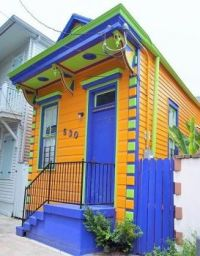 Colorful Small House - Front Street, New Orleans....