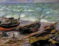Claude Monet—Fishing Boats at Étretat, 1885