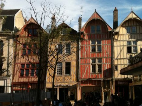 Old houses, Troyes, France