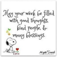 May your week....