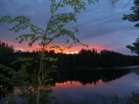 Summer sunset in southern Finland