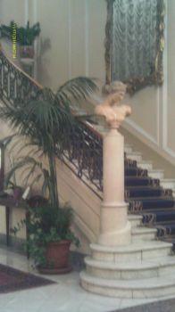 Hotel lobby in Naples, Italy