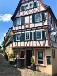Building of Café La Boheme in Heppenheim, Germany