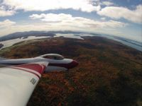 Fall colors viewed from a glider