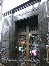 Evita Duarte Peron at Ricoleta Buenos Aires