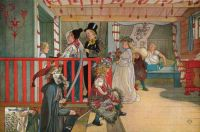 "Carl Larsson, ""Nameday at the Storage House"""