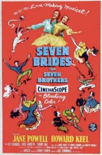 SEVEN BRIDES FOR SEVEN BROTHERS - 1954 POSTER - HOWARD KEEL, JANE POWELL,etc