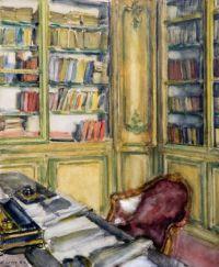 Walter Gay (American, 1856–1937), The Library at Château du Bréau