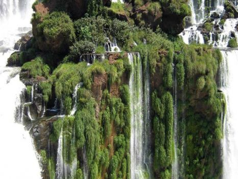 Iguazu falls seen from Argentina