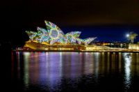 'The Lighting of the Sails' transforming the iconic Sydney Opera House, Aus,