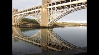 Britannia Bridge connects Anglesey to mainland Wales!!