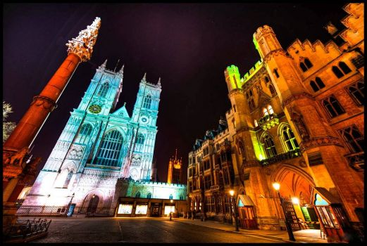 LONDON - WESTMINSTER ABBEY BY NIGHT
