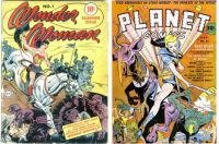 Wonder Woman No. 1 and Planet Comics #21