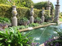Arundel Castle garden pool and fountains