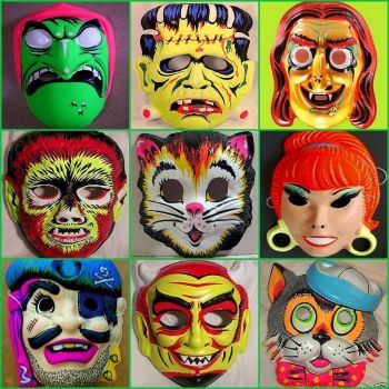 Halloween Masks - large