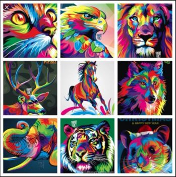 Collage of some of Wahyu Romdhoni's work