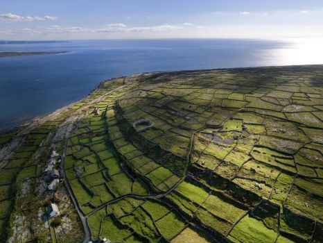 Small fields on the Aran Islands, Ireland