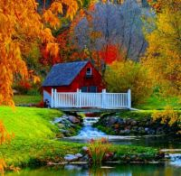 Red House By The Stream...
