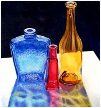 Painting - Glass Bottle Sun Effect