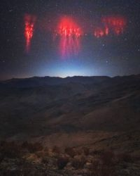 """""""Red Sprite Lightning over the Andes"""""""