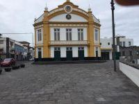"The theater building ""Teatro Ribeiragrandense"" in Ribeira Grande. Sao Miguel island, Azores islands, Portugal"
