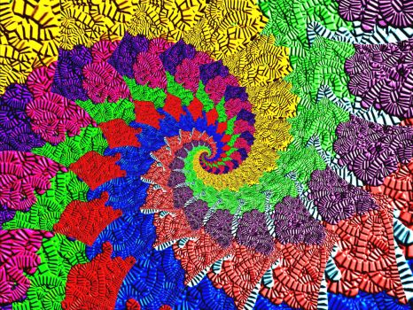 Textured colors spiral - large