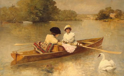 Boating on the Seine by Ferdinand Heilbuth