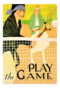 Themes Vintage illustrations/pictures - play the Game Tennis Poster