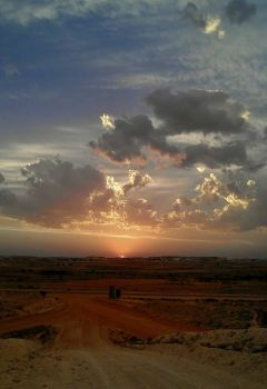 Sunset in the Australian Outback - photog unknown