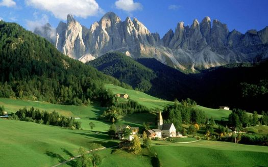 The Beautiful Mountainous region, the Val Di Funes, in Italy - photog unknown