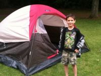 Tim and his tent