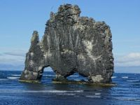 Hvítserkur, petrified troll in Iceland.