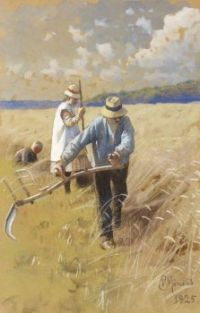 "Peder Mørk Mønsted,  ""Harvest Work"""