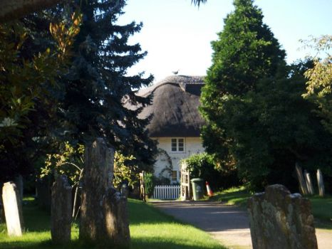 English Cottage and graveyard